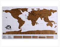 Free shipping  Scratch OFF MAP Travel Scratch Map Personalized World Map Poster