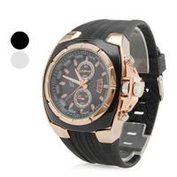 Men's Sports Rubber Style Analog Quartz Wrist Watch