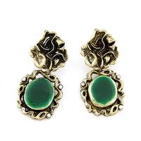 Europea Fashion Antique Flower Retro Enamel Earrings For Women
