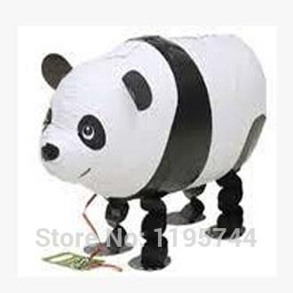 50pcs/Lot, Free Shipping, Wholesale, Panda Pet Walking Animals Balloons Hulium Mylar Balloons, Baby's toy, Party Decoration. .(China (Mainland))