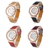 Women's Fashionable PU Leather Analog Quartz Wrist Watch (Assorted Colors)
