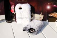 New 2014 Free Shipping 100% Real Rex Rabbit Hair Fur Plush Mobile Phone Cases Case For Iphone 4 4s 5 5s 5c rex fur case 10pcs