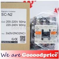 Fuji Magnetic Contactor SC-N2 Aux. 2a2b 2NO 2NC Coil 200-240V 50Hz/60Hz NIB
