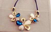 Free shipping necklace women Europe Crystal sweater chain Necklace female fashion.
