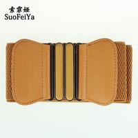 New arrive Fashion women belt wide elastic belt trendy belt ladies waistband Femal ceinture Free shipping