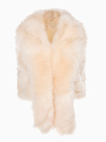 2014 Winter Women White Faux Fur Waistcoat Vest Jacket with Scarf Lapel Collar One Size Fits All - Junior Size (XS-L)