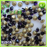 2014 New Glass Point Back Rhinestone Amethyst color  Point Back Chaton 1440pcs