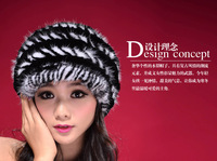 Free shipping2014 new  fur hat female Resin Fashion Mao peaked cap Rex Rabbit warm thick double millinery