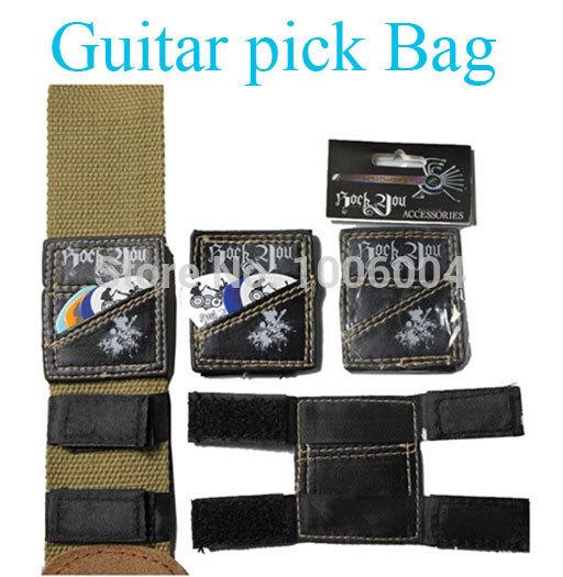 5 pieces good quality Guitar Picks Bag Case Holder Organizer Container Black,Free shipping(China (Mainland))
