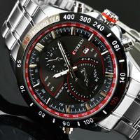 2014 New Top Sale! Brand Curren Men Stainless Steel Watch F1 Racing Design Sports Analog Diver Quartz Watch Brand Wristwatch