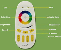 2.4G Group Division Wireless WIFI LED Bulbs Light RF Remote Controller Brightness Color Temperature Adjustable Dimmable