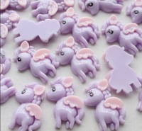 Purple Cute Color Little Pony Resin Flatbacks Flat Back Scrapbooking Lots 28ps