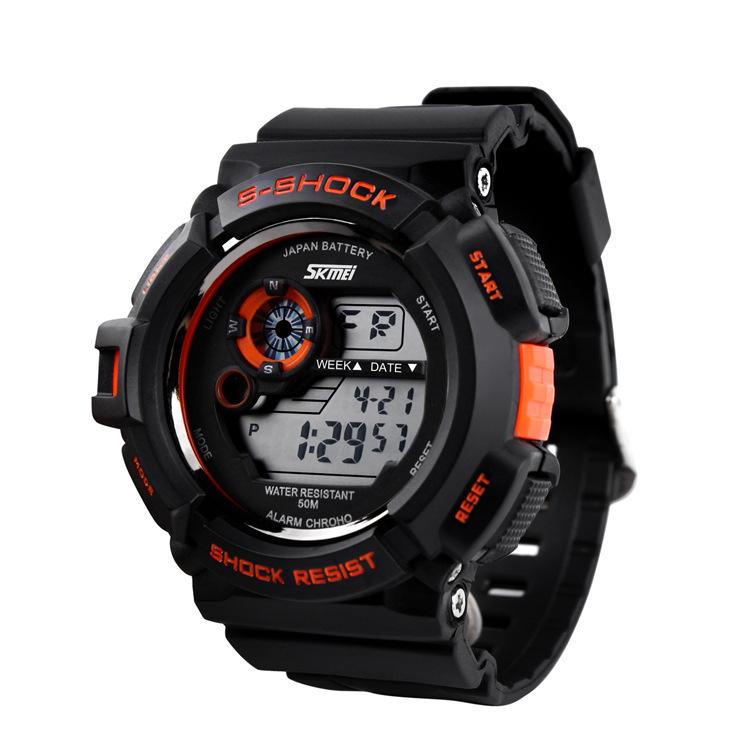 skmei last priceMoment America S-SHOCK watch cool fashion male and female student movement waterproof electronic watches wholesa(China (Mainland))