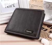 New Arrival Business short style genuine leather men's wallet. China famous brand fashion men's wallet  Free shipping