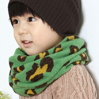 New style leopard print Camouflage comfortable thickening knitted muffler all-match baby child scarf