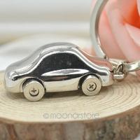 2014 Fashion Alloy Mini Car Model Styling Keychain Cute Versatile Metal Key Ring Key Chain 2X MHM135