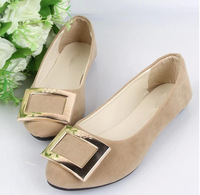 New 2014 autumn candy color flat round head light mouth comfortable single shoes European women loose flat shoes Size:35-41