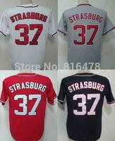 baseball jersey #37 Stephen Strasburg jersey,cheap blank baseball jersey wholesale Free shipping