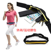 free shipping Retail Unisex outdoor sports brief waist packs mini waist bag waist pack casual sports waist pack mobile phone bag
