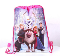 10pcs/lot 4 style Frozen school bag Cartoon backpack Bag-woven fabrics Kid's Schoolbag children's birthday gift