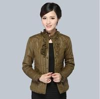 New Wadded jacket outerwear female winter women's 2014 design short cotton-padded jacket slim down jacket plus size L-XXXL C1841
