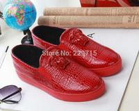 women sneakers new 2014 luxury brand men sneakers women genuine leather shoes size 36-41