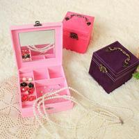 Y171 creative retro portable multifunction three- iron handle European jewelry box
