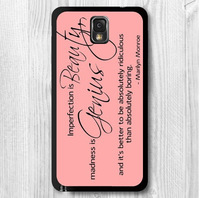 Marilyn Monroe Quotes Imperfect Protective Cover Case For Samsung Galaxy Note 3