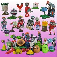 5sets/Lot  Plants vs Zombies Anime Action Figure 2.5-6.5cm PVZ 40pcs/set Collection Figures Toys Gifts plant + zombies