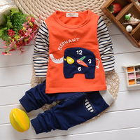 2014 New arrival! Childrens' clothing set child cartoon cotton t-shirt plus trousers Little Spring GTJ-T0205