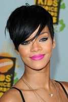 Celebrity Hairstyles USA Star Rihanna's Sexy Black Short Fashion Lady's Hair Black Women Wigs Free Shipping