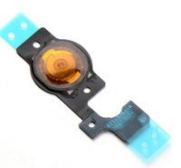 100% Original Promotion 2013 New for Iphone 5C replacement return home button key flex cable; 10pcs/lot free shipping