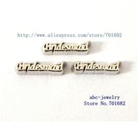 wholesales 10pcs Bridesmaid floating charms FC267 for living memory floating locket as Mom Dad sister grandma gift