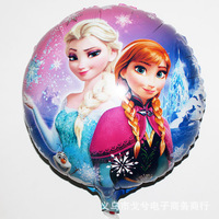 New arrival Balloons Frozen Anna Elsa Sister Printed Party Supply Balloons Princess Snow Queen Cartoon 45x45cm 50pcs/lot
