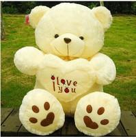 2014 new Beige Giant Big Plush Teddy Bear Soft Gift for Valentine Day Birthday