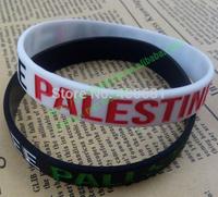 Debossed Free Palestine flag bracelet