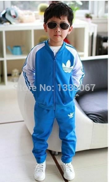 2014 New Autumn Winter Pure Cotton Children Clothes Kids Sets Coat+Pants 2pcs International Fashion Brands top quality(China (Mainland))