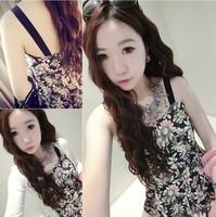 2014 summer lena women's fashion vintage HARAJUKU slim waist spaghetti strap one-piece dress