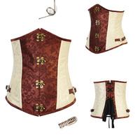 2014 New  intimates lady shaper sexy lingerie sex  satin steel bone corset  size S-2XL  C18