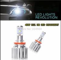 One Set High Power 4000LM CREE XM-L2 40W H8 H11 LED Headlights Conversion Kit  Bulbs