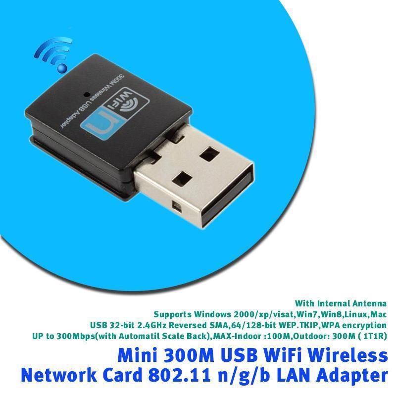 300M Mini Wireless USB Wifi Adapter LAN Network Adapter 802.11n//g//b For Win 7