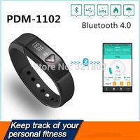 Portable Smart Wristband Bluetooth 4.0 Pedometer digital Pedometer PDM-1102 Free shipping