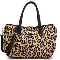 2014 HOT sale Product 100% genuine leather Bags wholesale leopard leather bag GD-3954 LOW MOQ free shipping fashion women bags