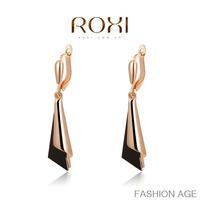 ROXI fashion new arrival, genuine Austrian crystal,black Earrings, trendy earrings for womenChrismas/Birthday gift