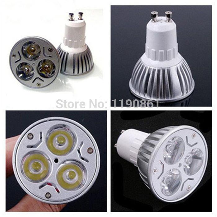 GU10 Dimmable LED Bulb Lamp 9W High Power LED Spotlight Bulb lights 4PCS Free shipping(China (Mainland))