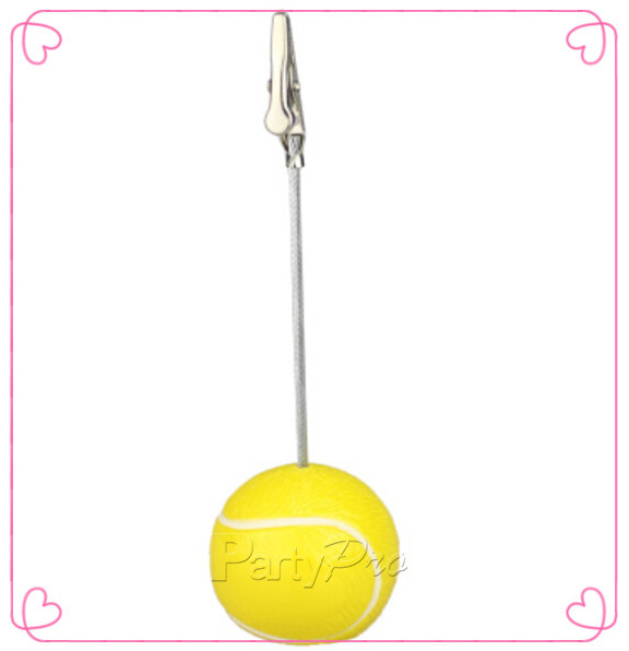 Free Shipping 50pcs Creative Party Decoration Gift Sports Game Tennis Ball Place Name Card Holder(China (Mainland))