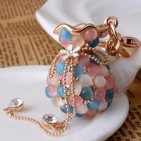 Hot-selling!  eye purse car keychain metal key chain lovely modelling Elegant and generous  women key chain  high  quality