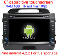 100% Android 4.1 Car DVD for Kia sportage 2010 2011 2012 Capacitive screen GPS Navigation BT TV Radio RDS Wifi Free shipping