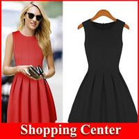 Free shipping New 2014 spring and summer Fashion women's dresses big princess tutu Sleeveless dress women sweet party dress