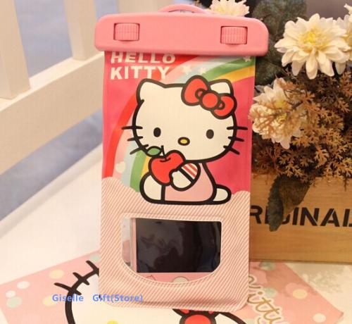 15CM Super Kawaii Hello Kitty Outdoor Travel Waterproof Phone BAG Pouch Case ; Wrist Safebet Storage BAG Case Pouch(China (Mainland))